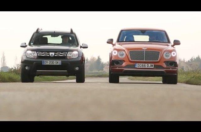 [VIDEO] Bentley vs. Dacia. Batalia extremelor din categoria SUV