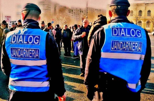 Jandarmeria Romana cere sprijin pentru a identifica instigatorii din Piata Victoriei