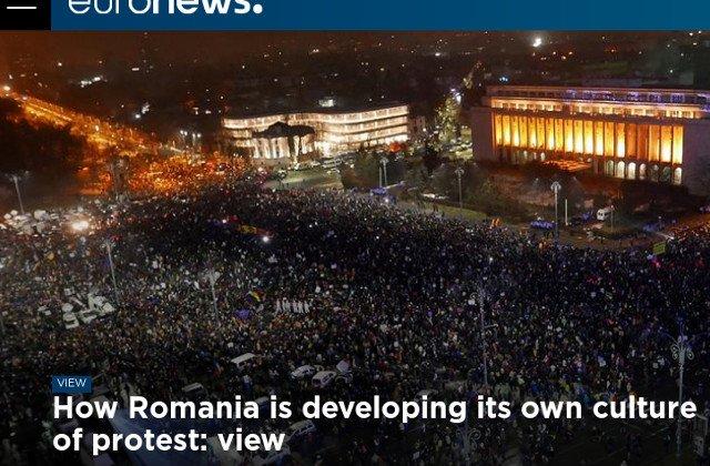 Euronews: Romania isi dezvolta o cultura proprie a protestului