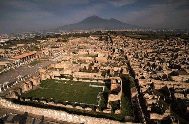 Un zid din situl arheologic Pompei s-a prabusit