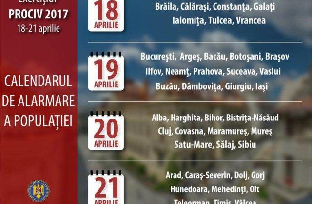 Sirenele care anunta situatiile de urgenta vor fi testate miercuri in Bucuresti si in alte 13 judete