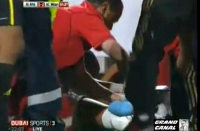 [VIDEO] Robinho s-a taiat la genunchi intr-o camera de televiziune