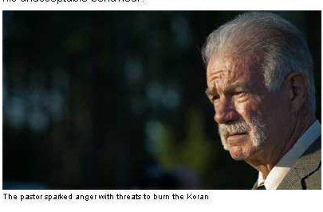 "Pastorul care vroia sa arda Coranul, ""interzis"" in Anglia"