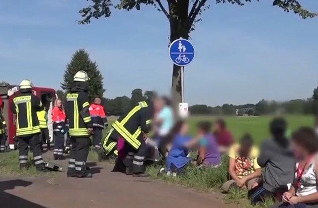 44 de oameni raniti intr-un accident de autocar in Germania. Cei mai multi sunt romani