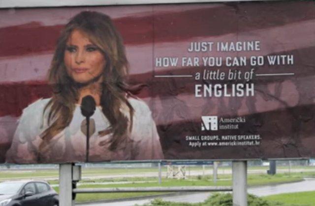"""""""Imaginati-va cat de departe puteti ajunge cu un pic de engleza!"""" Melania Trump cere blocarea campaniei"""