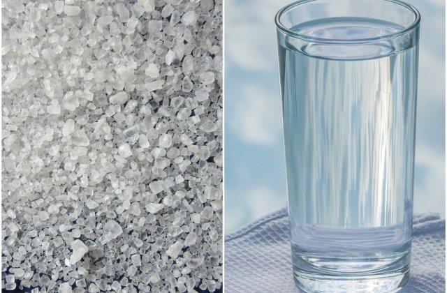 apa calda cu sare