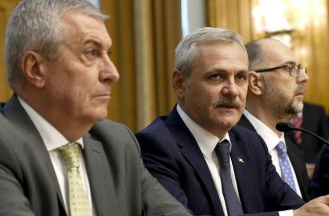 Dragnea si Tariceanu participa la o dezbatere cu pensionarii PSD in timpul motiunii de cenzura
