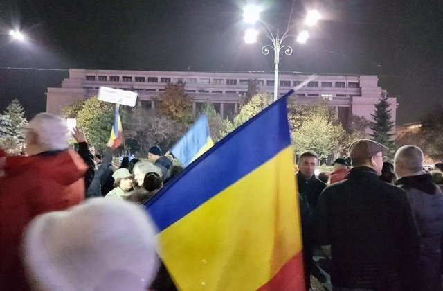 Protest in fata Guvernului de 1 decembrie