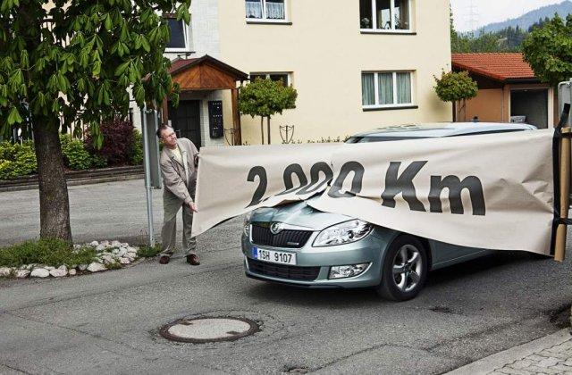 Record de consum pentru Skoda Fabia Greenline - 2000 km cu un plin