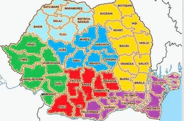 Romania, impartita in 6 regiuni de dezvoltare. Care va fi schema?