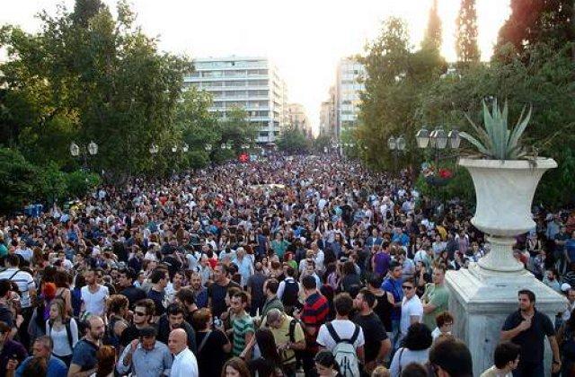 50.000 de oameni au protestat pe strazile din Atena