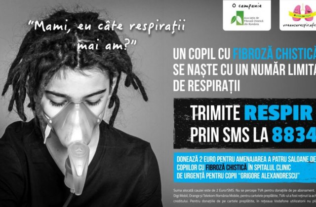 In Romania, bolnavii de fibroza chistica traiesc cu aproximativ 20 ani mai putin decat media europeana