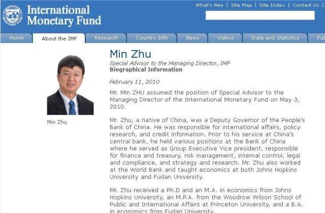 Un chinez in conducerea FMI
