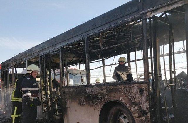 Satu Mare: Un autobuz plin cu pasageri a luat foc in mers