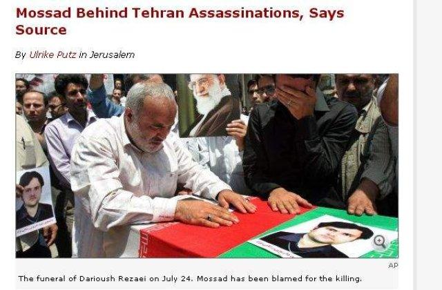 Israelul, implicat in asasinarea unui om de stiinta iranian