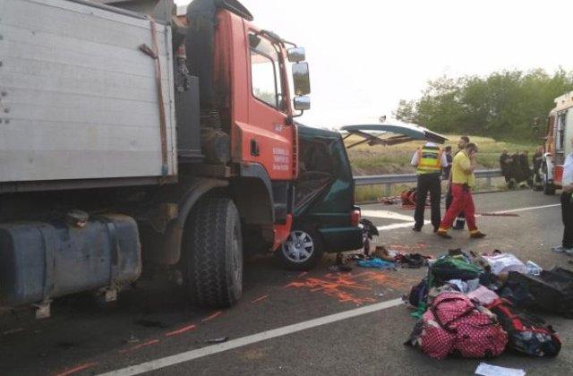 Noua romani au murit intr-un accident in Ungaria