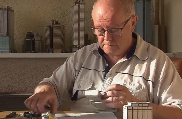 Un pensionar a construit un oras cu 4.000 de cladiri din carton timp de 65 de ani/ VIDEO