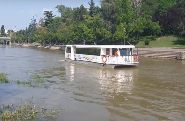 Timisoara a devenit primul oras din Romania cu transport public in comun pe apa