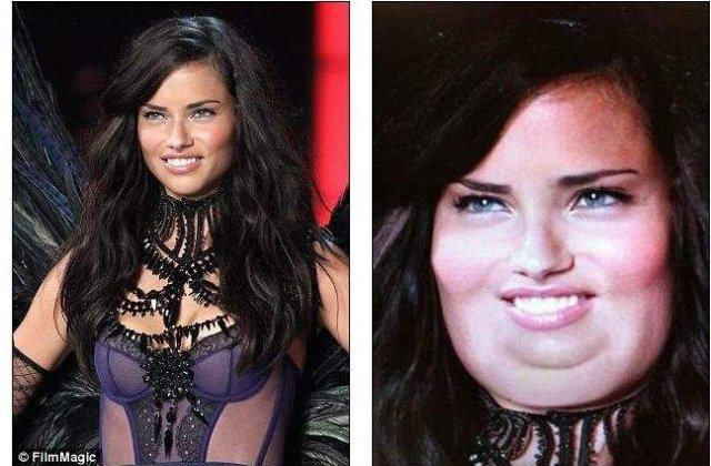 Cum ar arata fotomodelele Victoria Secret daca s-ar ingrasa?