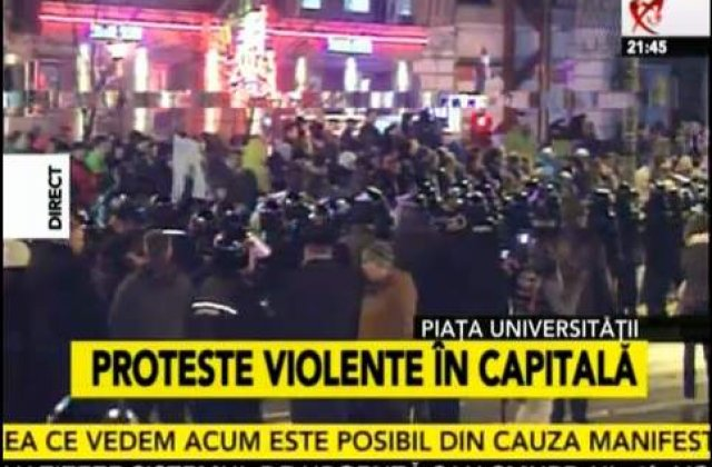 [VIDEO] Protestele de la Piata Universitatii continua