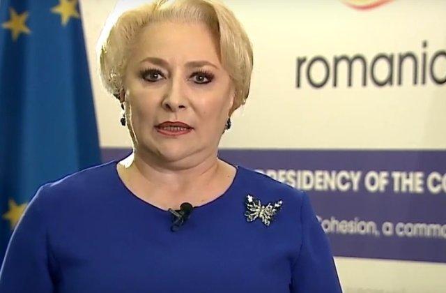 Dancila, mesaj cu prilejul preluarii presedintiei Consiliului UE: 2019 va fi anul Romaniei europene/ VIDEO