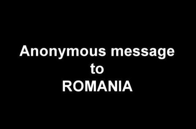 [VIDEO] Un nou atac Anonymous impotriva unei institutii romanesti