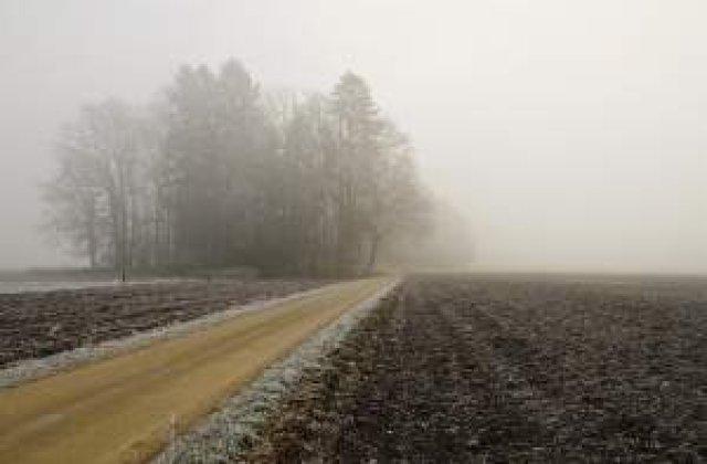 Avertizare de ceata pentru trei judete