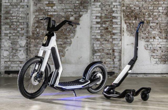 Alternative la utilizarea masinii in oras: Volkswagen prezinta doua concepte de scutere electrice
