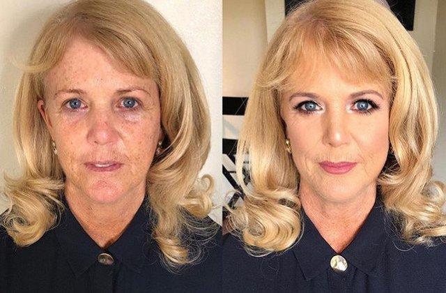 """Nu subestima puterea machiajului. 10+ imagini (noi) cu femei inainte si dupa """"metamorfoza"""" prin make-up"""