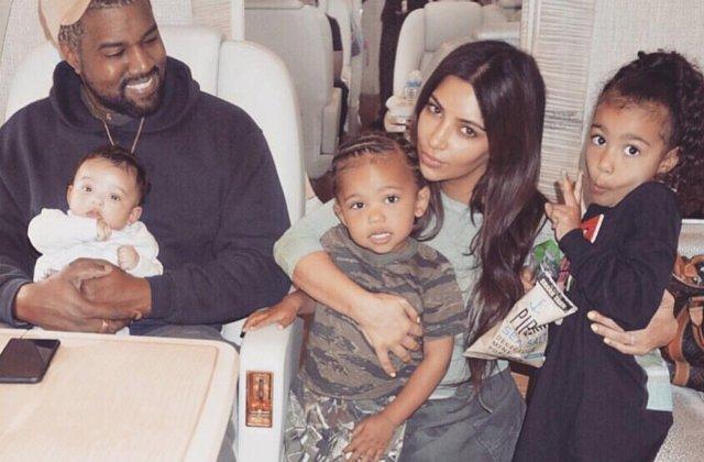Numele neobisnuit pe care Kim Kardashian si Kanye West l-au ales pentru cel de-al patrulea copil al lor