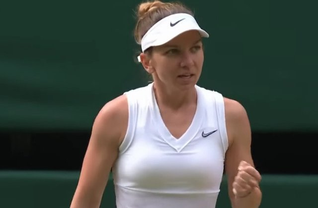 Simona Halep s-a calificat in sferturi la Wimbledon/ VIDEO
