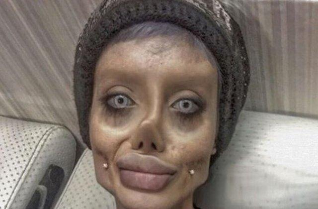 Tanara care si-a facut mai multe operatii estetice pentru a arata ca Angelina Jolie a fost arestata pentru blasfemie