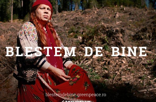 Greenpeace apeleaza la blestemul unei vrajitoare pentru a opri distrugerea padurilor Romaniei