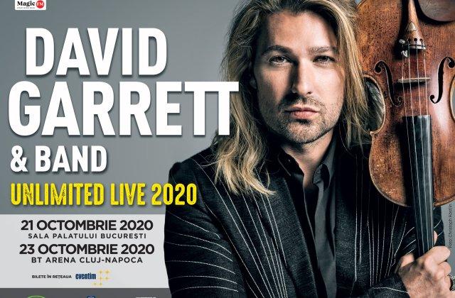 David Garret revine in 2020 cu doua concerte la Bucuresti si Cluj