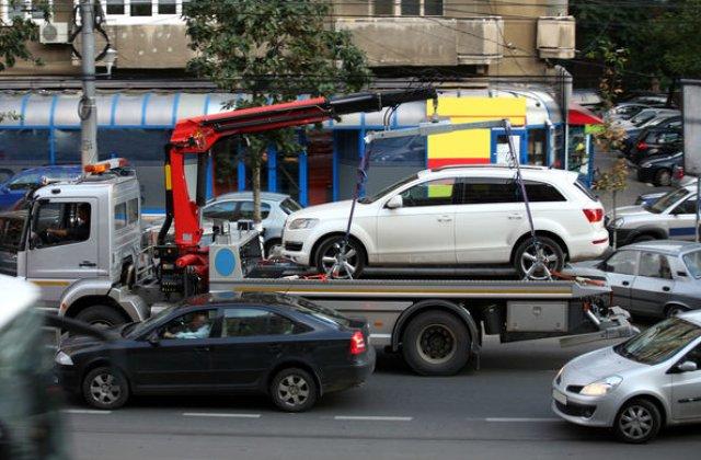 Proiect de lege: politistii ar putea dispune ridicarea masinilor parcate pe trotuar sau pe orice alte spatii