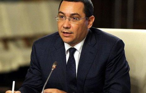 Ponta, despre motiunea de cenzura : Nu jucam in piese de teatru scrise de PSD sa