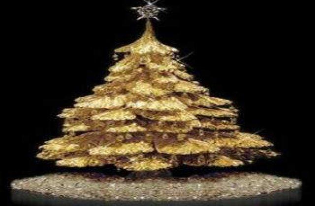 Un brad de Craciun din aur, de 4,2 mil dolari, de in vanzare la Tokyo