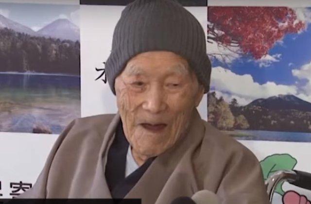 Cel mai varstnic barbat din lume - un japonez de 112 ani. Are cinci copii, 12 nepoti si 16 stranepoti /VIDEO