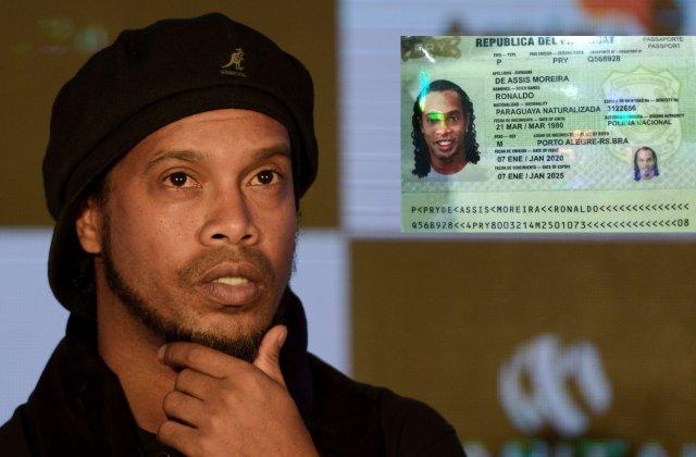 Ronaldinho, arestat in Paraguay. Fotbalistul a fost ridicat chiar din camera de hotel