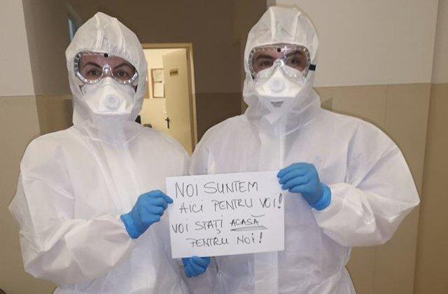 """Mesajul personalului medical de la Sectia Boli Infectioase: """"Stati acasa pentru noi"""""""