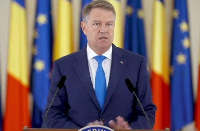 "VIDEO Klaus Iohannis, mesaj pentru natiune: ""Impreuna si doar impreuna vom reusi"""
