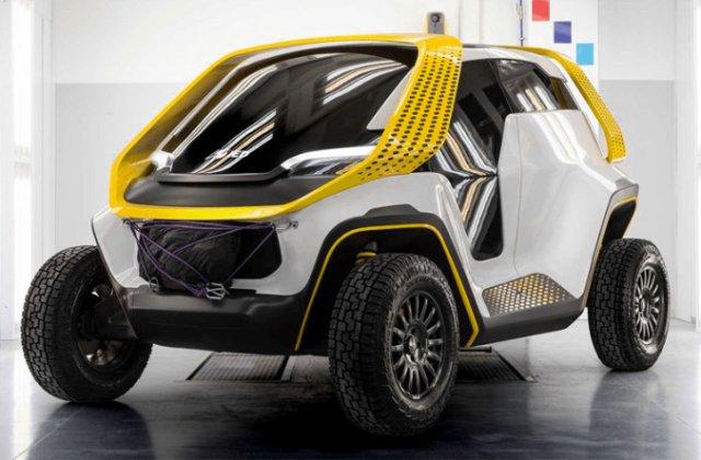 Studentii de la Institutul European de Design au prezentat conceptul elecric Tracy: mobilitate off-road pentru 6 persoane