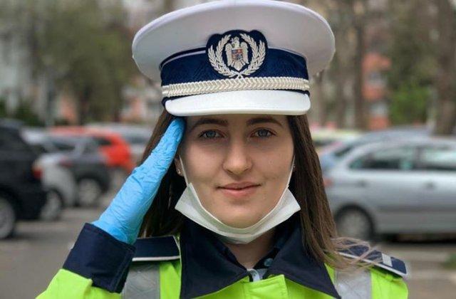 Reacția emoționantă a unei tinere polițiste când a realizat că șoferul oprit în trafic este medic