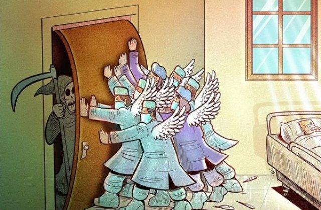 Realitatea dură a medicilor în timpul pandemiei de coronavirus: 30+ ilustrații emoționante ale unui artist iranian