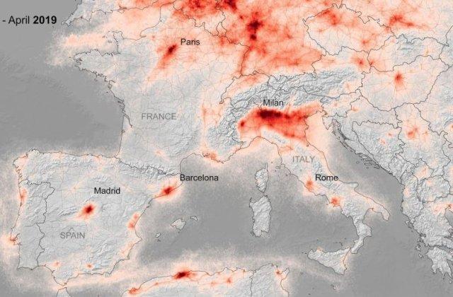 Poluarea din Europa, în continuă scădere pe fondul carantinei de coronavirus