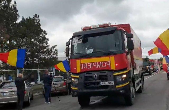 VIDEO Cum a fost întâmpinat convoiul cu ajutoare trimis în Republica Moldova