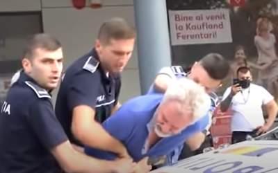 VIDEO Un bărbat a ajuns în...