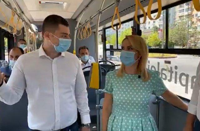 VIDEO Bandă unică pentru transportul în comun. Autobuzele din București vor circula pe liniile de tramvai