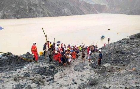 162 de morți într-o mină de jad, în urma unei alunecări de teren în...