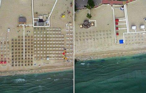 FOTO Plajele din Mamaia și Năvodari sunt monitorizare cu drona